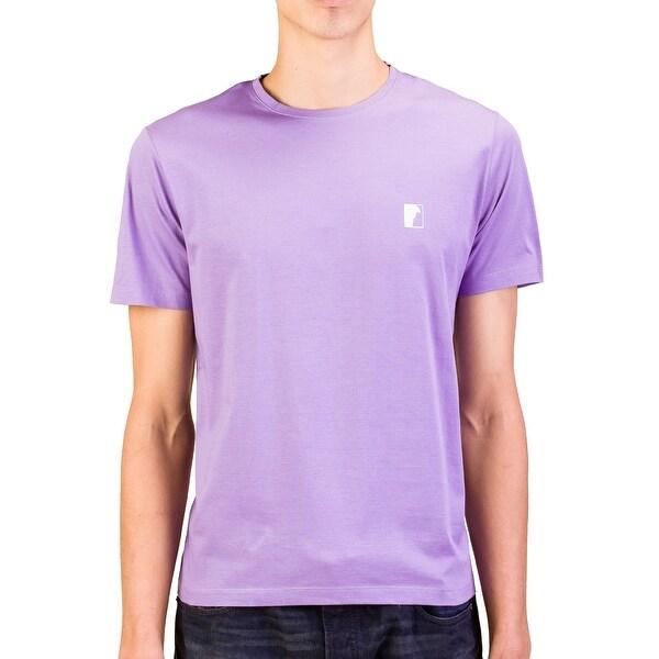 Versace Collection Men Medusa Logo Crew Neck T-Shirt Purple