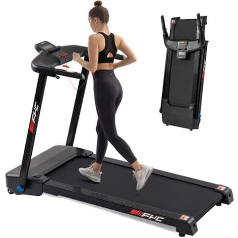 2.5 HP Compact Electric Running Machine With LCD Display,Black