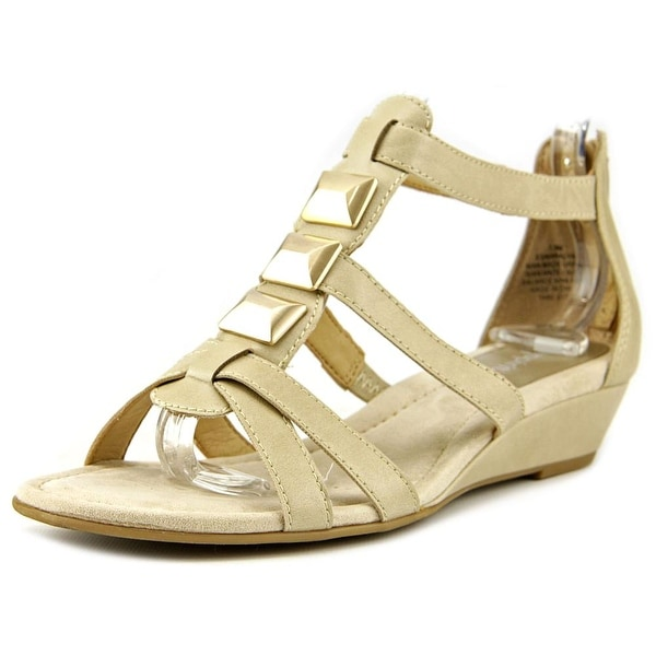 Easy Spirit Maralyn Women Open Toe Synthetic Nude Wedge Sandal