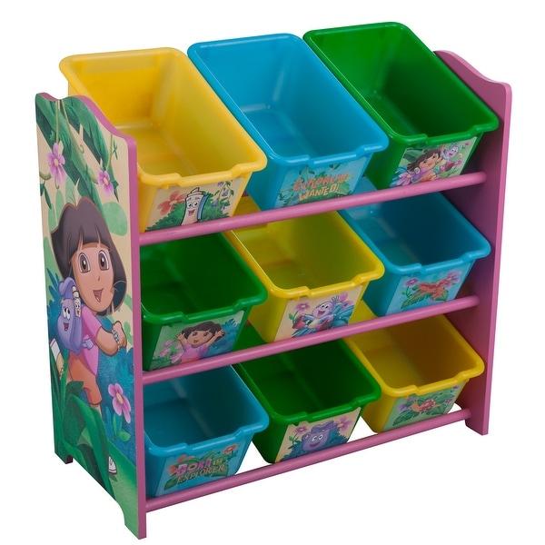 Dora the Explorer 9 Bin Toy Box Organizer by Delta