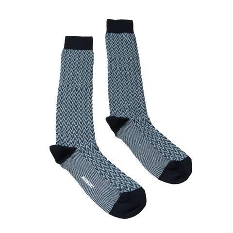 Missoni GM00CMU5240 0003 Turquoise/Navy Knee Length Socks