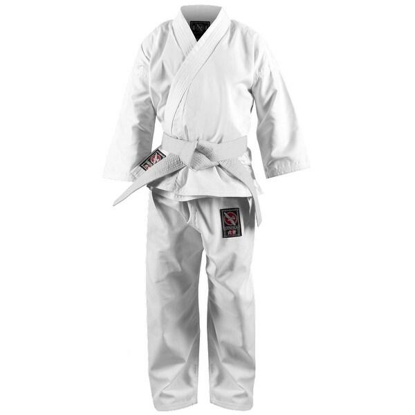 Shop Hayabusa Musha Youth Karate Gi - White - kimono taekwondo kids