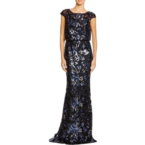Shop Badgley Mischka Womens Semi Formal Dress Silk Cap Sleeves
