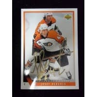 Signed Beranek Josef Edmonton Oilers 1993 Upper Deck Hockey Card autographed