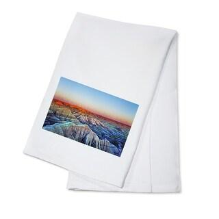 Badlands National Park, South Dakota - Sunrise - Lantern Press Photography (100% Cotton Towel Absorbent)