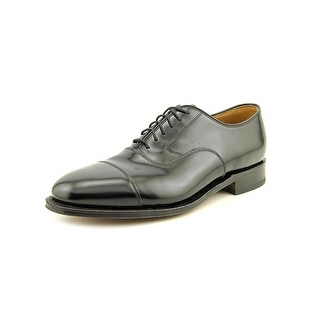Johnston & Murphy Melton Men 3E Cap Toe Leather Black Oxford
