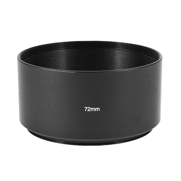 Replacement Aluminum Telephoto 72mm Thread Mount Round Lens Shade Hood Black