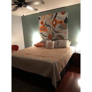 The Curated Nomad Cerritos Orange Quilted 6-piece Coverlet Set