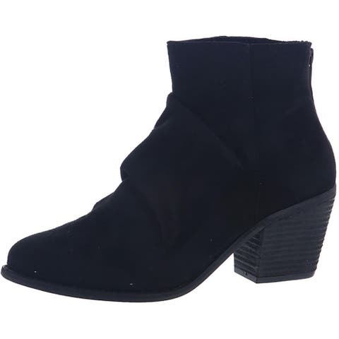 Not Rated Women's Salta Faux Suede Slouchy Block Heel Ankle Bootie