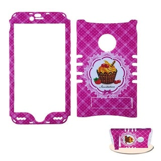 Rocker Snap-On Protective Case for Apple iPhone 6 Plus (Cake Design/Pink)