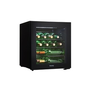 Danby DWC018A1 18 Inch Wide 16 Bottle Capacity Free Standing Wine Cooler with LE - Black - N/A
