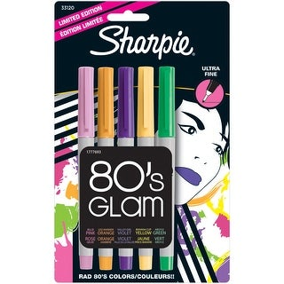 Sharpie Ultra Fine Point Permanent Markers 5/Pkg-80's Glam