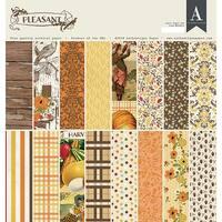 """Authentique Double-Sided Cardstock Pad 12""""X12"""" 24/Pkg-Pleasant, 8 Designs/3 Each"""
