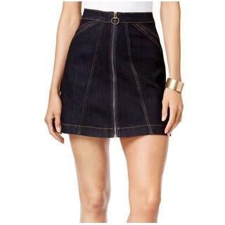 Buffalo David Bitton NEW Blue Women's Size 32 Denim A-Line Mini Skirt