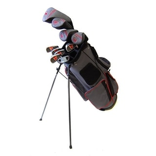 New Tommy Armour EVO Teen TA-28 Complete Golf Set + Stand Bag RH - gray / black / red