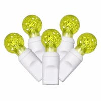 Lime Green Commercial Grade LED G12 Berry Christmas Lights 4 in.