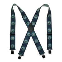 CTM® Men's Elastic Clip-End 2 Inch US Navy Suspenders (Tall Available), Navy