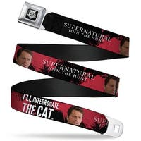 Winchester Logo Full Color Black White Supernatural Castiel I'll Seatbelt Belt