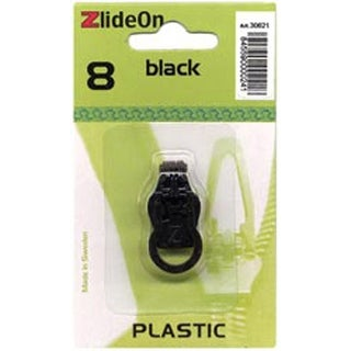 Black - ZlideOn Zipper Pull Replacements Plastic 8
