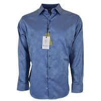 Robert Graham HAYSTACK Blue Paisley Print Classic Fit Sports Shirt