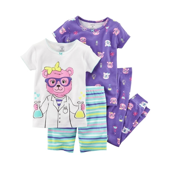 Shop Carter s Girls  4-Piece Snug Fit Cotton PJs 1af9ab454