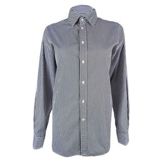 Polo Ralph Lauren Women's Striped Shirt - Black/White - 8