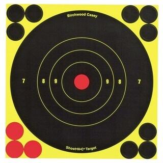 Birchwood Casey Shoot-N-C 6-Inch Bull's-Eye Target, 12 Targets