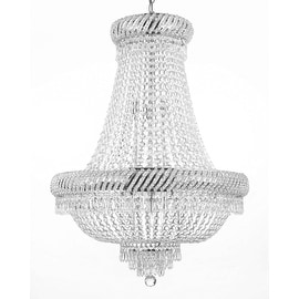 Flush French Empire Crystal Chandelier Chandeliers Lighting Light Fixture