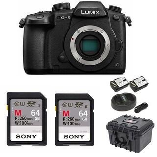Panasonic GH5 Lumix 4K Mirrorless Camera w/ 128GB SD Card & Bundle