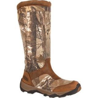 Rocky Retraction Men's Waterproof Side-Zip Camo Snake Boot