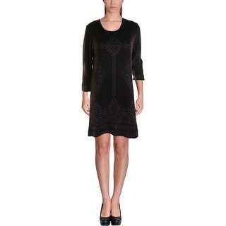 NY Collection Womens Knit Long Sleeves Sweaterdress