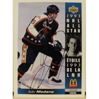 Mike Modano Minnesota North Stars Autographed 1993-94 Upper Deck McDonalds Card