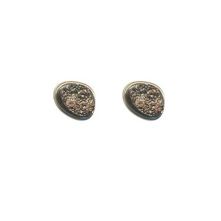max & MO Gold Nugget Look Stud Earring