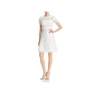 Elie Tahari Womens Adina Cocktail Dress Floral Embroidered
