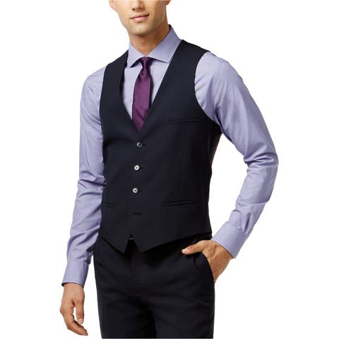 Bar Iii Mens Professional Four Button Vest