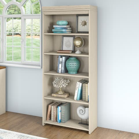 """Copper Grove Khashuri 5-shelf Bookcase - 29.57""""L x 12.09""""W x 68.94""""H"""