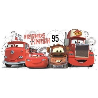 York Wallcoverings RMK2556GM Cars 2 Friends to the Finish Peel and Stick Giant Wall Decals