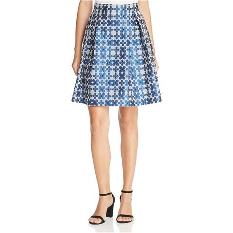 Finity Womens Floral A-line Skirt, Blue, 10