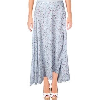 Denim & Supply Ralph Lauren Womens Maxi Skirt Floral Print Tie Closure - L
