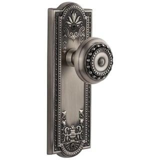 "Grandeur PARPAR_PRV_234  Parthenon Solid Brass Rose Privacy Door Knob Set with Parthenon Knob and 2-3/4"" Backset"