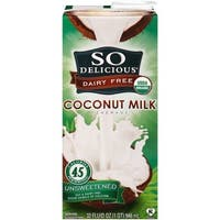 So Delicious Coconut Milk Beverage - Unsweetened - Case of 12 - 32 Fl oz.