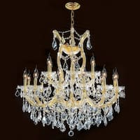 "Worldwide Lighting W83005G30 Maria Theresa 19-Light 2 Tier 30"" Gold Chandelier - N/A"