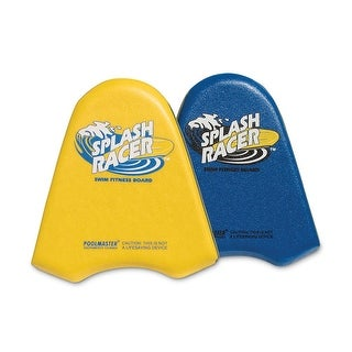 "19"" Yellow Triple-Laminated Splash Racer Water Fun Fitness Training Swim Board"