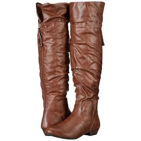 Fergalicious Womens Rookie Closed Toe Knee High Fashion Boots