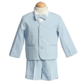 Boys Light Blue Eton Short Formal Ring Bearer Easter Suit 12M-4T