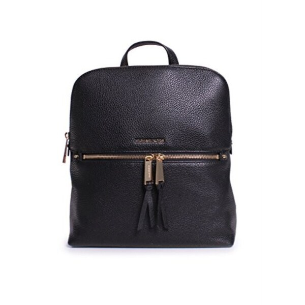 067aa7da3 Shop MICHAEL KORS Rhea Medium Black Slim Fashion Backpack - Free ...