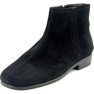 Aerosoles Duble Trouble Women W Square Toe Suede Black Ankle Boot
