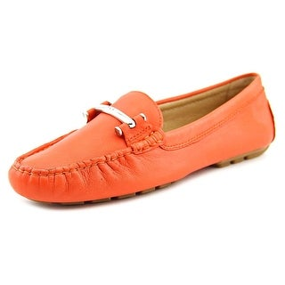 Lauren Ralph Lauren Caliana Women Round Toe Leather Orange Loafer