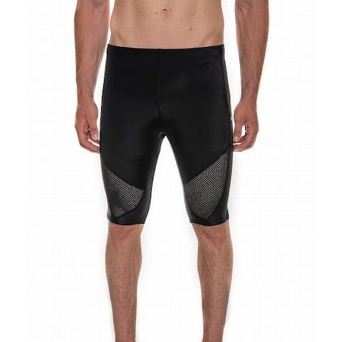 CW-X Mens Activewear Bottoms Black Size Large L Cycling Stretch Shorts