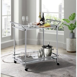 Link to Picket House Furnishings Palermo Bar Cart in Chrome Similar Items in Kitchen Carts